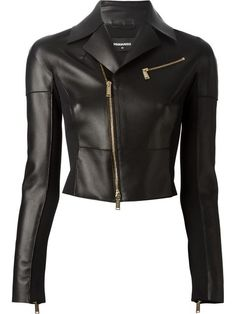 c312f5372b60 Shop DSQUARED2 fitted biker jacket in Russo Capri from the world s best  independent boutiques at farfetch