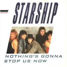 """Artist: Starship (2) Title: Nothing's Gonna Stop Us Now Format : 7"""", Single Genre : Rock, Stage & Screen Style : Pop Rock, Synth-pop Media Condition: Very Good Plus (VG+) Sleeve Condition: Very Good (VG) Notes: Other Label Notes: ⓟ 1987 RCA/Ariola International Marketed by RCA Records Manufactured In England A-Side: Copyright Control/Empire Music Ltd. (from the film """"Mannequin"""") Produced & Arranged for Perfection Light Productions B-Side: Carlin Music Corp Mobile Recording by WESTWOOD ON The Skeleton Twins, Empire Music, Albert Hammond, The Guess Who, 80s Songs, Uk Singles Chart, Low Cost Wedding, Inexpensive Wedding Venues, Musica"""