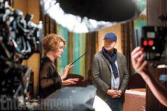 Samantha Morton sur le tournage des Animaux Fantastiques
