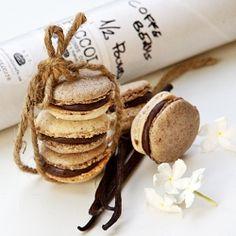 Koffie,vanille macarons.....heerlijk