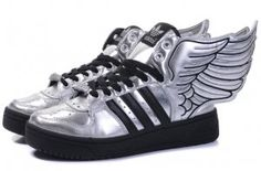 best loved 0e181 d227e Originals Adidas Jeremy Scott Wings 2.0 Black Sliver Shoes