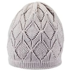 Ascend Pointelle Knit Hat for Ladies - Ashes