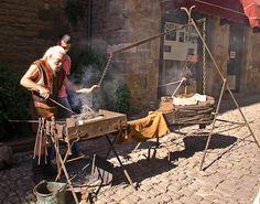 Medieval blacksmith by ceridwenn, via Flickr