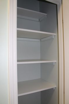 Installing drawers instead of shelves in linen closet Home