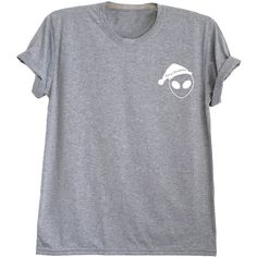 La poche d'alien Tumblr tshirt chemise alien tee Noël cadeaux chemises... (55 BRL) ❤ liked on Polyvore featuring tops, t-shirts, unisex t shirts, pocket tops, unisex tops, chemise top and vacances
