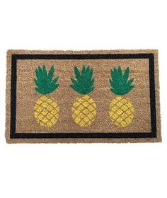 Guests will feel welcome even before they step foot in the door with this pineapple adorned mat. After all, pineapples are the customary symbol of hospitality.