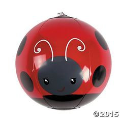 Inflatable Mini Ladybug Beach Balls  12 ct * See this great product.Note:It is affiliate link to Amazon.