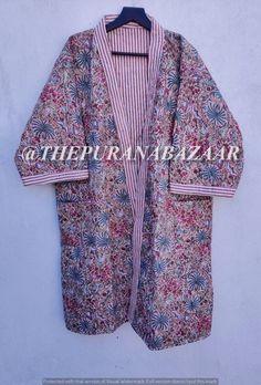 Winter Kimono, Cotton Kimono, Cotton Jacket, Kimono Jacket, Kimono Dressing Gown, Long Kimono, Kimono Top, Printed Cotton, Kimono Fashion