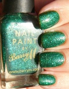 Barry M Green Glitter