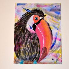 Toucan Abstract Painting by 21CannonSalute on Etsy