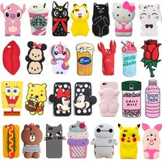 3D Cartoon Animal Soft Silicone Phone Case Cover For Iphone 5 5S Se 6 7 Plus #IphoneCaseCovers