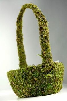 "Moss Baskets Natural Moss 5x9"" - so cute as a flower girl basket!"