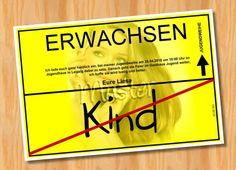 Einladung Einladungskarten Jugendweihe MUSTER 13  - Bild vergrößern