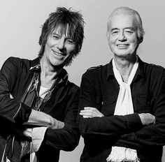 Jimmy Page and Jeff Beck at the Classic Music Awards Nov. 11, 2016 in Tokyo. Photo by Ross Halfin