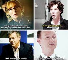 Mystrade? Metinks the writers are hinting at Mystrade. Or they like snark. Either one is fine.