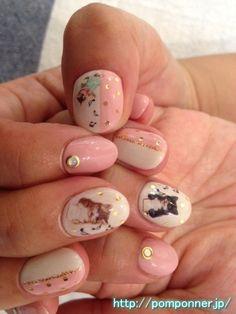 Cute cat nail
