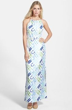 Vineyard Vines Patchwork Silk Maxi Dress available at #Nordstrom