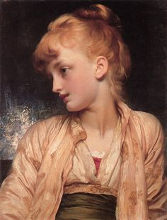 """Gulnihal"" by Lord Frederic Leighton, English Classicist Painter and Sculptor, Frederick Leighton, Rome Antique, Academic Art, Classic Paintings, Portraits, Portrait Paintings, Canvas Paintings, Pre Raphaelite, Oil Painting Reproductions"