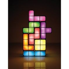 Tetris Constructable Light. How cool would this be in a kid's room or rec room?