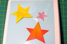 Simple origami star