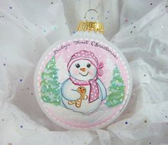 Check out this item in my Etsy shop https://www.etsy.com/listing/227608023/baby-girls-first-christmas-ornament