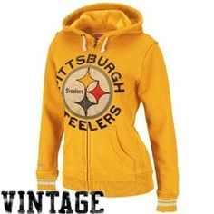 Mitchell & Ness Pittsburgh Steelers Women's Full Zip Hooded Sweatshirt I want this!