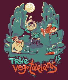 vegetarians! t-shirt design