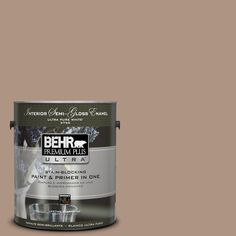 BEHR Premium Plus Ultra 1-gal. #hdc-SP14-5 Mocha Tan Semi-Gloss Enamel Interior Paint