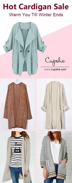 No room for cold in these chic cardigans but cool! Comfortable fabric and beautiful styles show off your beauty always at top level. Enjoy wonderful fall with Cupshe~ Check them out!