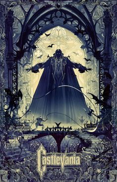 """Castlevania by Kilian Eng 24"""" x 36"""" officially licensed fine art prints, S/N regular and variant editions of 200."""