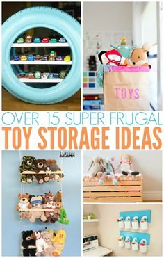 Toy storage ideas    toy organization ideas | storage DIY | organizing toys | declutter | cleaning tips | organizing DIY | toy storage DIY | frugal toy storage via @PennyPinchinMom