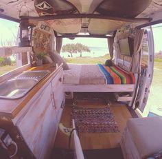 @_richo_88_ has transformed his van into a beach shack! by vanlifeexplorers