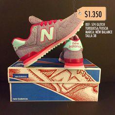 Zapatillas New Balance Referencia 574 Glitch Turquesa/Fuscia