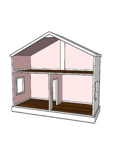 Doll House Plans For American Girl Or 18 Inch Dolls - 3 Room Option - Not Actual…