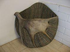 Moose antler basket - Handwoven Antler Baskets