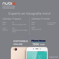 #nubia #N2, el #ExpertoEnFotografía:  ☑️Cámara trasera de 13 MP  ☑️Instantánea rápida de 0,2 segundos  ☑️Tecnología de reducción de ruido 3D  ☑️Mejora de la imagen de poca luz  ☑️Tecnología de estabilización  ☑️Imagen digital de calidad DSLR.  ☑️Filtro de belleza   ☑️Luz de relleno inteligente  ☑️Cámara frontal de 16 MP Disponible ya en The Phone House España 😎.