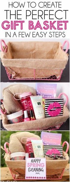 (A través de CASA REINAL) >>>>> Love these tips for creating the perfect gift basket and how cute is that spring cleaning gift basket idea? I'd love to get that! #KleenexStyle #ad Gift basket Ideas #giftbasketideas #giftbaskets