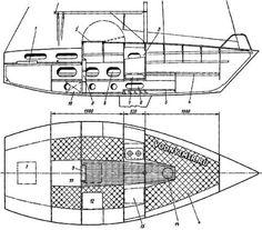 Общее расположение яхты «Курьер-III» Nautical Design, Sailboats, Floor Plans, Sailing Yachts, Sailboat, Floor Plan Drawing, House Floor Plans