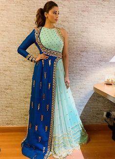 Indian Designer Outfits, Designer Gowns, New Design Gown, Western Gown Design, Indian Prom Dresses, Trendy Dresses, Fashion Dresses, Long Gown Dress, Frocks For Girls