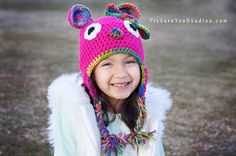 animal bear hat for girl baby toddler teen by stitchesbystephann, $18.00