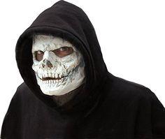 Latex Maske Skelett Totenkopf Schädel zum Horror Kostüm Halloween