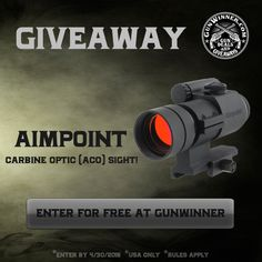 Enter to win an Aimpoint Optic from GunWinner https://wn.nr/q6CrK