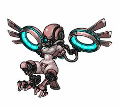 Harpy by MuHut on DeviantArt Creature Concept Art, Robot Concept Art, Arte Robot, Robot Art, Thicc Anime, Anime Art, Pixel Art, Robot Animal, Pixel Characters