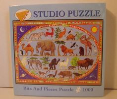 Studio Puzzle Bits and 1000 Pieces. All kinds of animals.