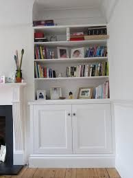 Image result for fireplace recess shelving