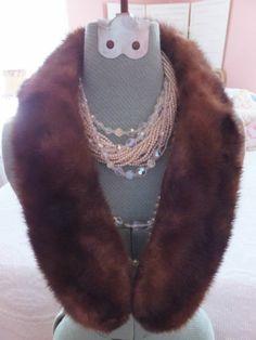 Vintage Steve Butcher Furs Detroit Brown Mink Fur Collar | eBay