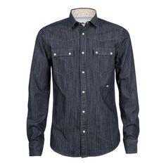 Mens Alex Vik Long Collar Shirt long sleeved Majolica Blue, Moods Of Norway