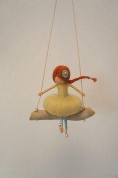 Needle felted fairy figurine by DORIMU on Etsy