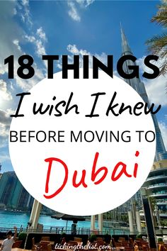 Are you thinking of moving to Dubai? Why wouldn't you! Sunshine, tax free, central hub for travelling. But there are many things to take into consideration BEFORE you make the move.