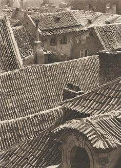 "lostandfoundinprague: "" Photographer of the month: Jiří Jeníček, Prague, Rooftops of Mala Strana, 40's """